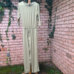 Slouchy Style Soft Sage Romper